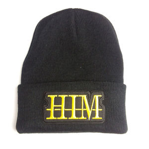 HIM Band Logo Patched Black Beanie